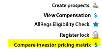 Compare Investor Pricing Matrix