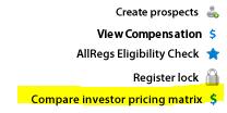 Compare Investor Pricing Matrix