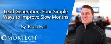 Four easy ways to improve loan origination, by Brian Hall.