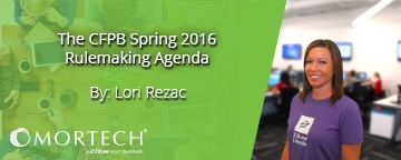 CFPB Spring 2016 Rulemaking Agenda