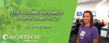 FHFA shows refinance volume is down