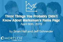 Marksman's Rates Page | Mortech