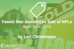 Fannie Mae Announces Sale of NPLs