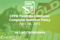 CFPB Finalizes Consumer Compliant Narrative Policy